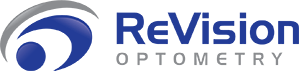 revision optometry logo with text