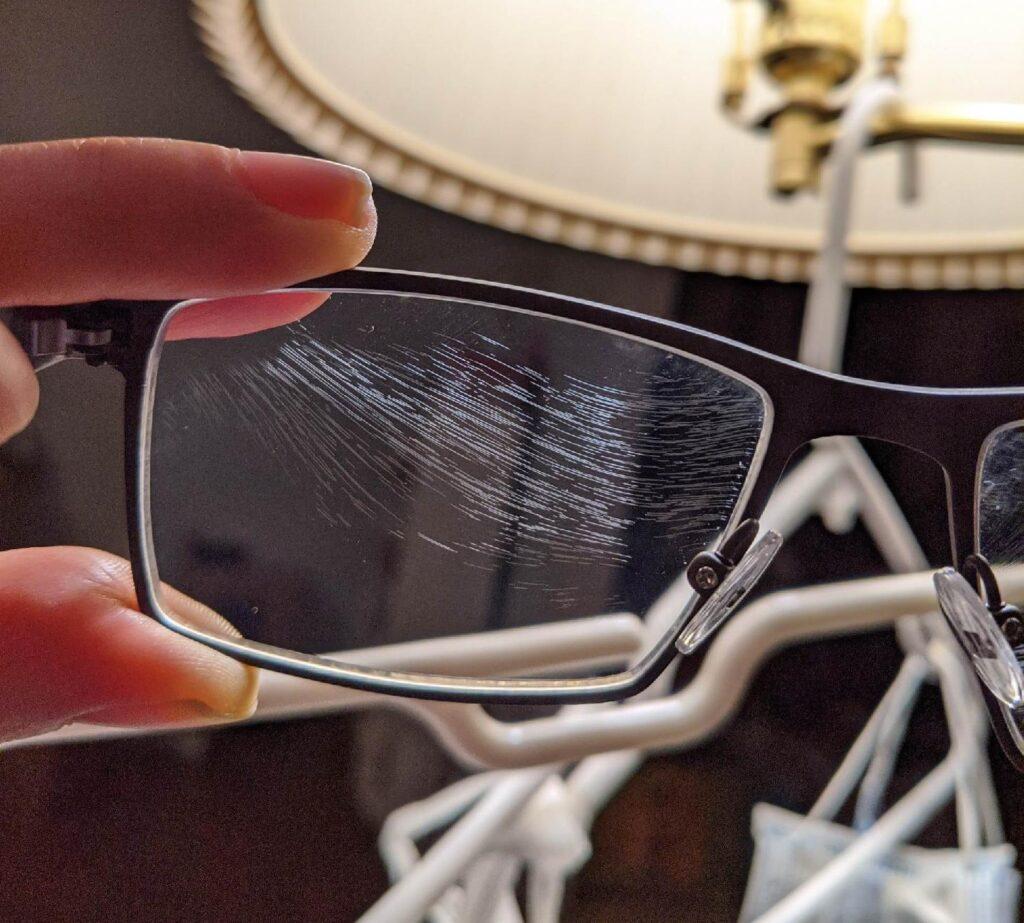 Weird Eyeglass Scratches